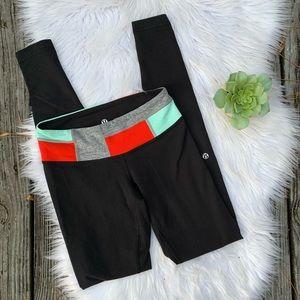 Lululemon Cropped Athletic Colorblock Leggings